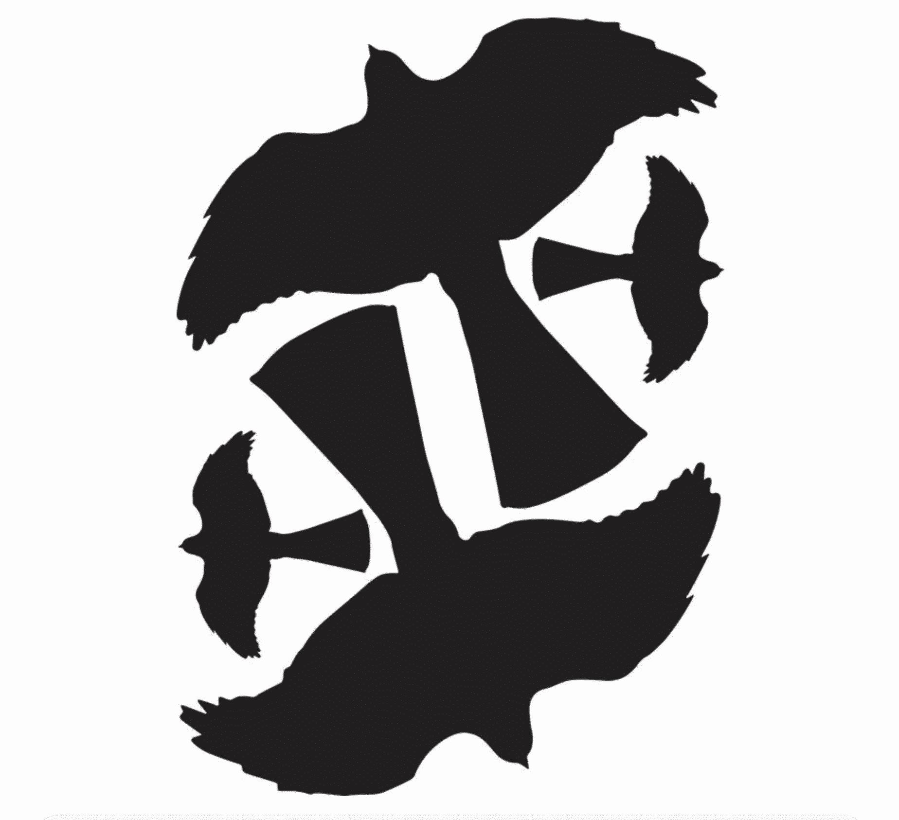 MotFågel Siluett Sparvhök (2+2st)