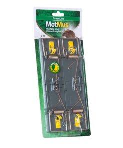 Musfälla MotMus plast 4-pack